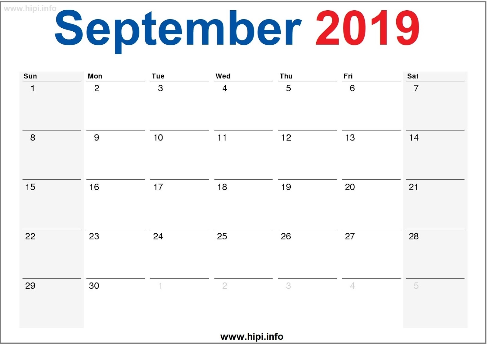 Twitter Headers / Facebook Covers / Wallpapers / Calendars within Full Size Monthly Calendar September