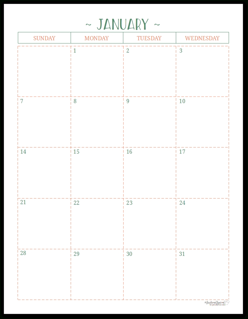 Two Page Per Month 2018 Dated Calendars Are Ready in Half Page Monthly Calendar Printable