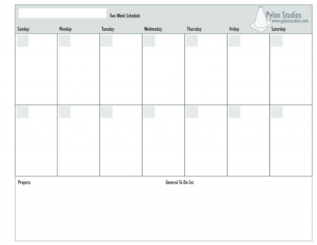 Two Week Calendar Emplate Weekly Pages Ulyssesroom Free Printable inside Two Week Blank Calendar Template