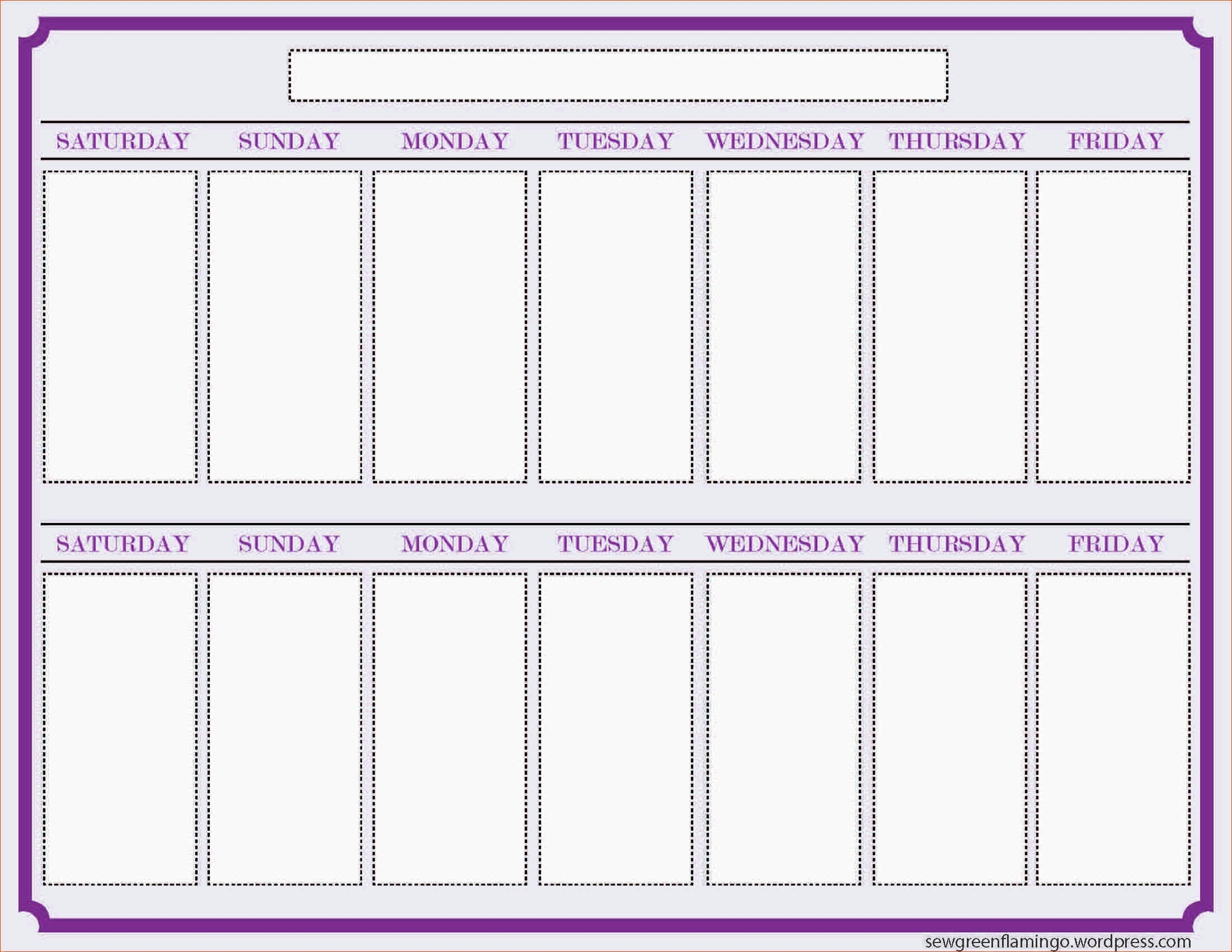 Two Week Calendar Template Printable Online Calendar – Printable inside Two Week Blank Calendar Template