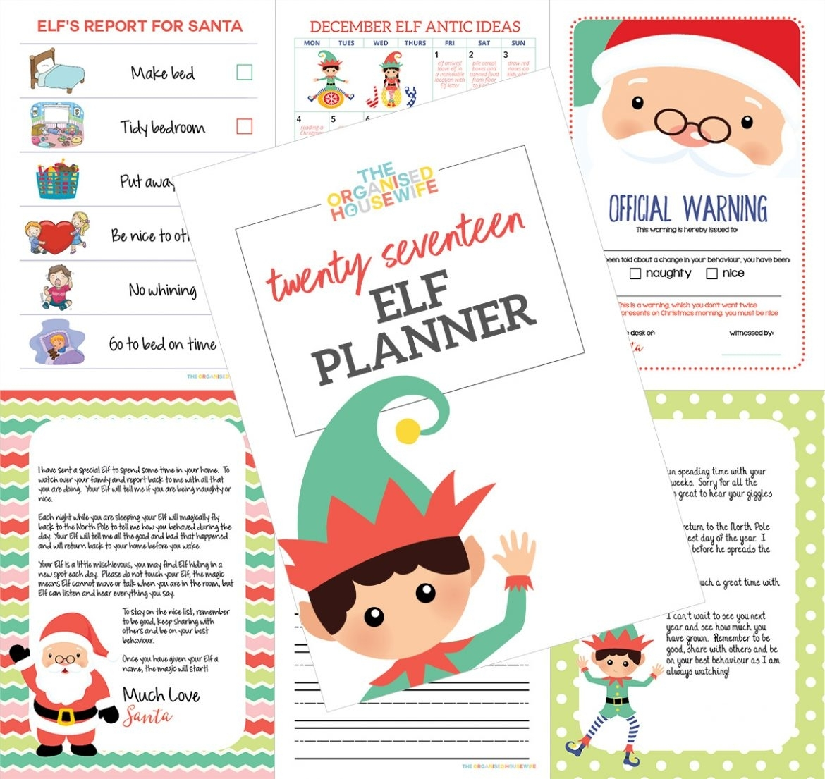 Ultimate Guide To Elf On The Shelf + 2017 Elf Planner - The intended for 12 Month Photo Calendar Ideas Naughty