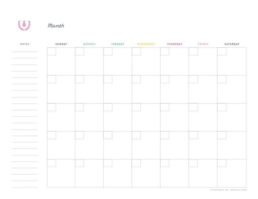Undated Printable Monthly Calendar Free   Template Calendar Printable regarding Undated Printable Monthly Calendar Free
