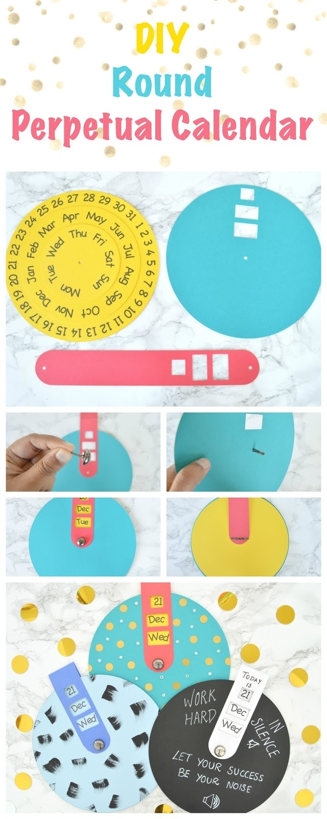 Vikalpah: Diy Round Perpetual Calendar With Free Printable Template intended for Free Printable Perpetual Calendar Templates