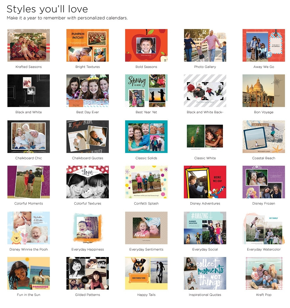 Wall Calendars Wall Calendar | Shutterfly throughout Wall Calendar Frames And Holders