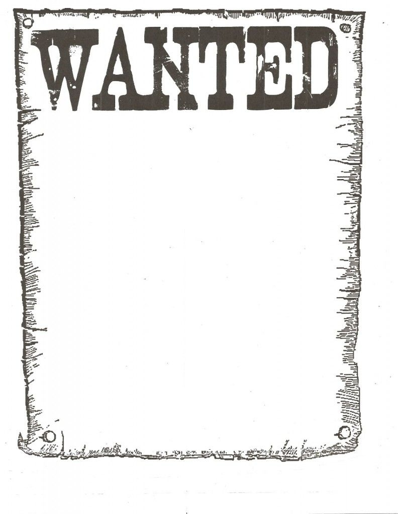Wanted Poster Template For Kidsclassroom | Books Worth Reading throughout Free Printable Wanted Poster Template