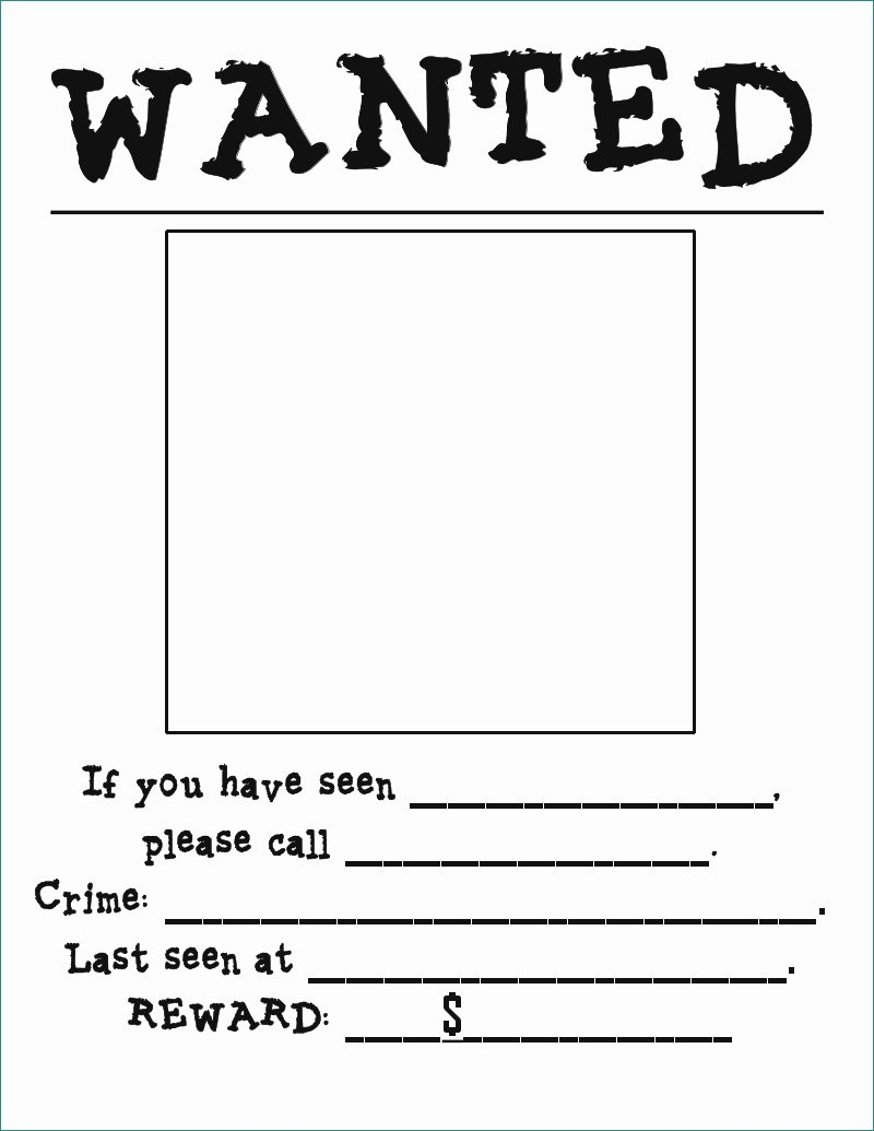 Wanted Poster Template Free Printable Realistic 29 Free Wanted throughout Free Printable Wanted Poster Template