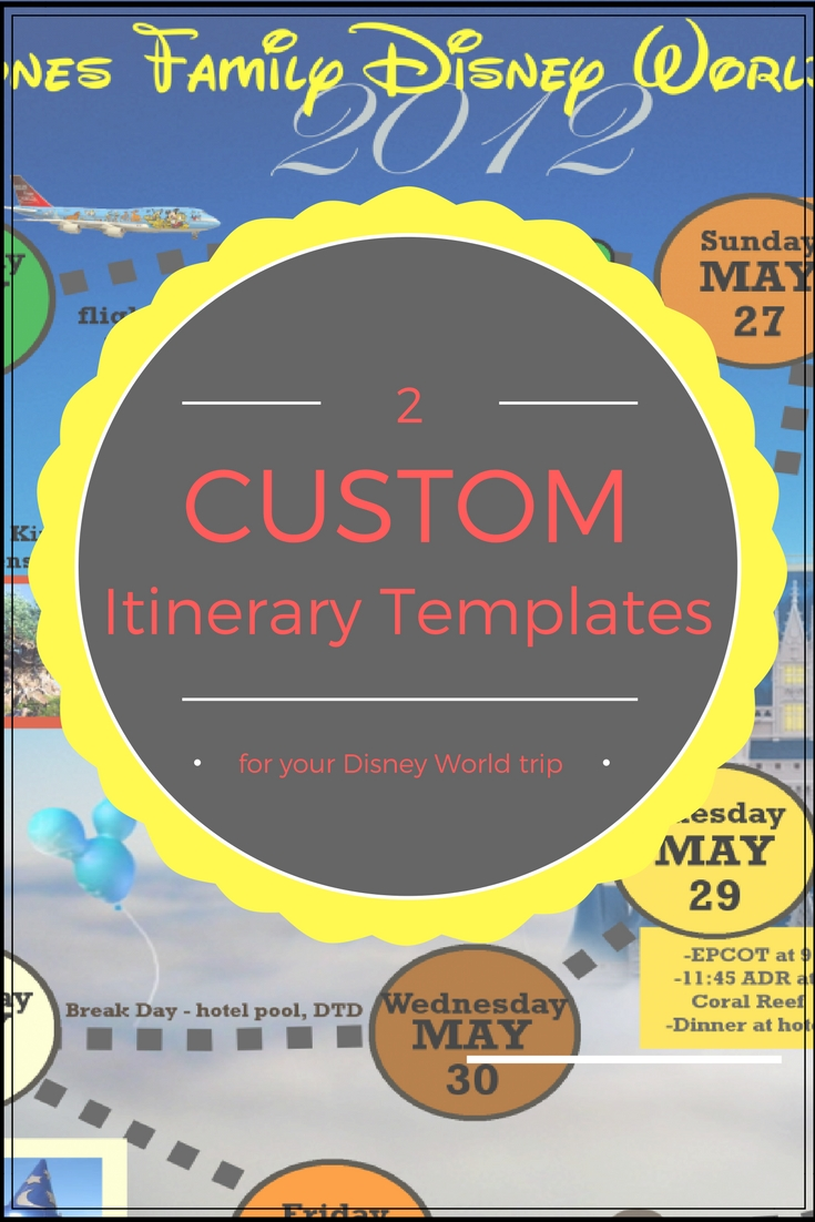 Wdw Itinerary Templates - Free & Printable - Available In Both Word with Disney World Itinerary Template Blank