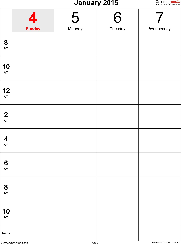 Weekly Calendar 2015 For Pdf - 12 Free Printable Templates with regard to Week 2 Weekly Calendar Printable