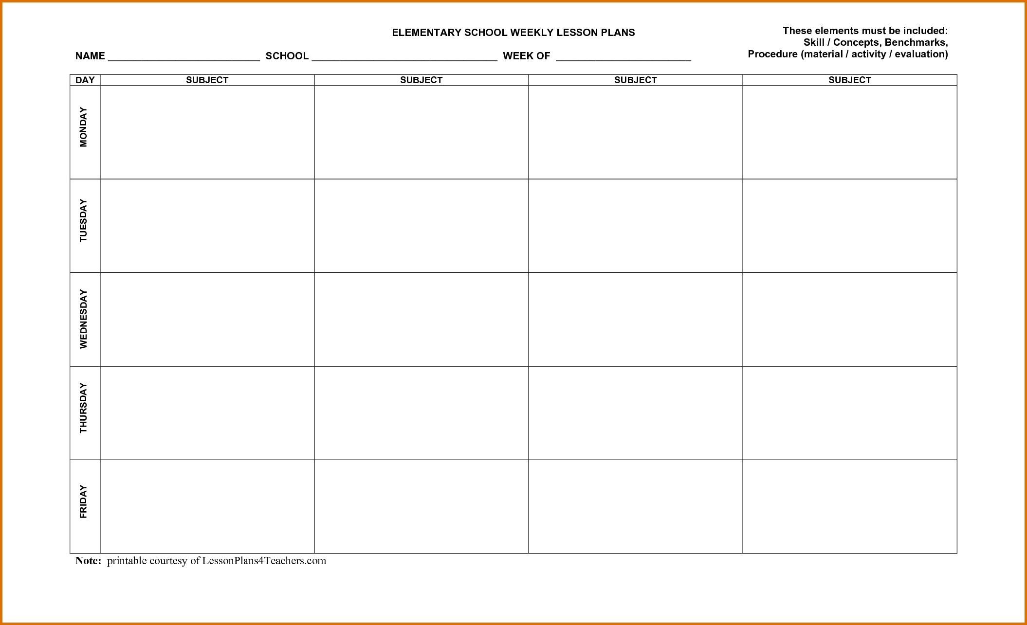 Weekly Calendar Lesson Plan Template | Jazz Gear throughout Lesson Plan Calendar October Blank