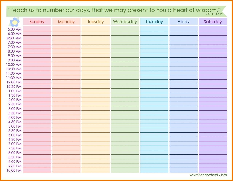 Weekly Calendar With Hours Printable Weekly Calendar With Hours regarding Weekly Calendar By Hour Printable