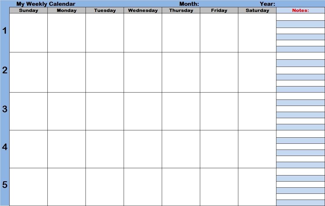 Weekly Calendar With Time Slots | Printable 2017 Calendars with regard to Weekly Schedule With Time Slots