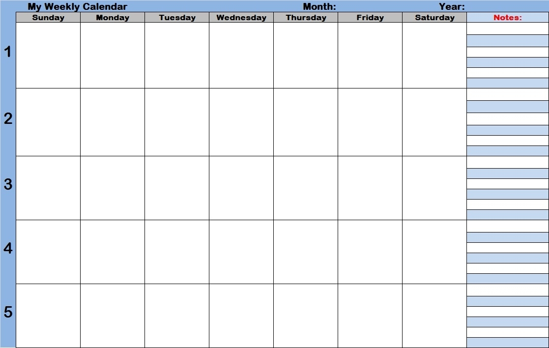 Weekly Calendar With Time Slots Template | Printable 2017 Calendars inside Calendar With Time Slots Template