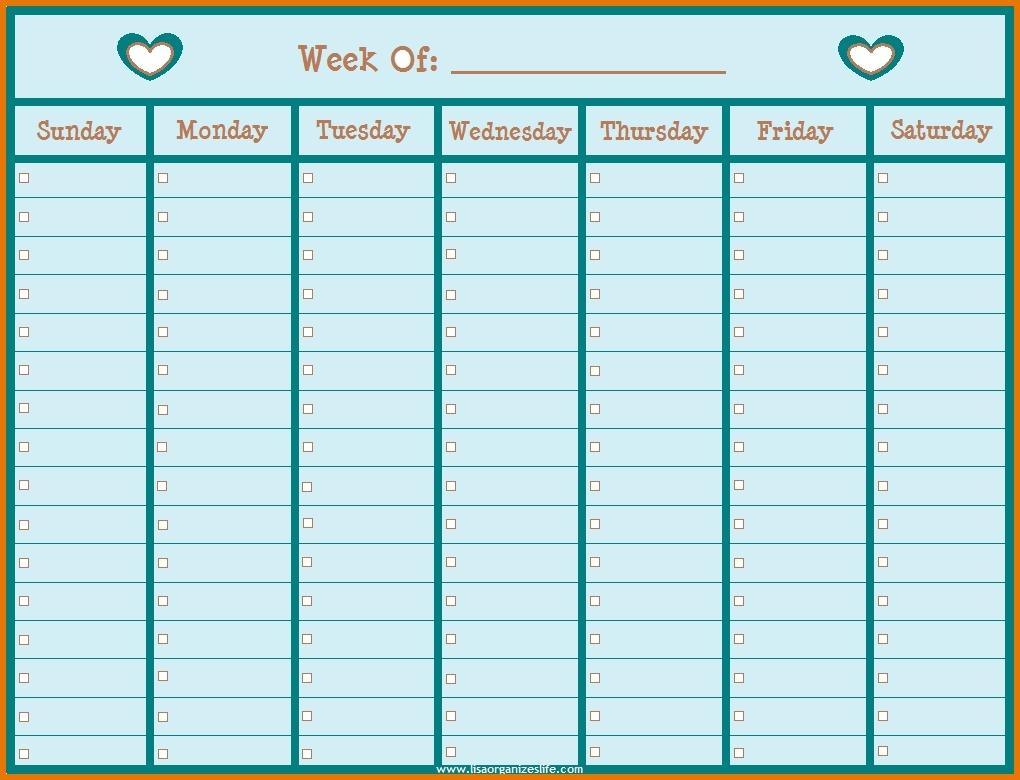 Weekly Calendarhour | Printable 2017 Calendars intended for Weekly Calendar By Hour Printable