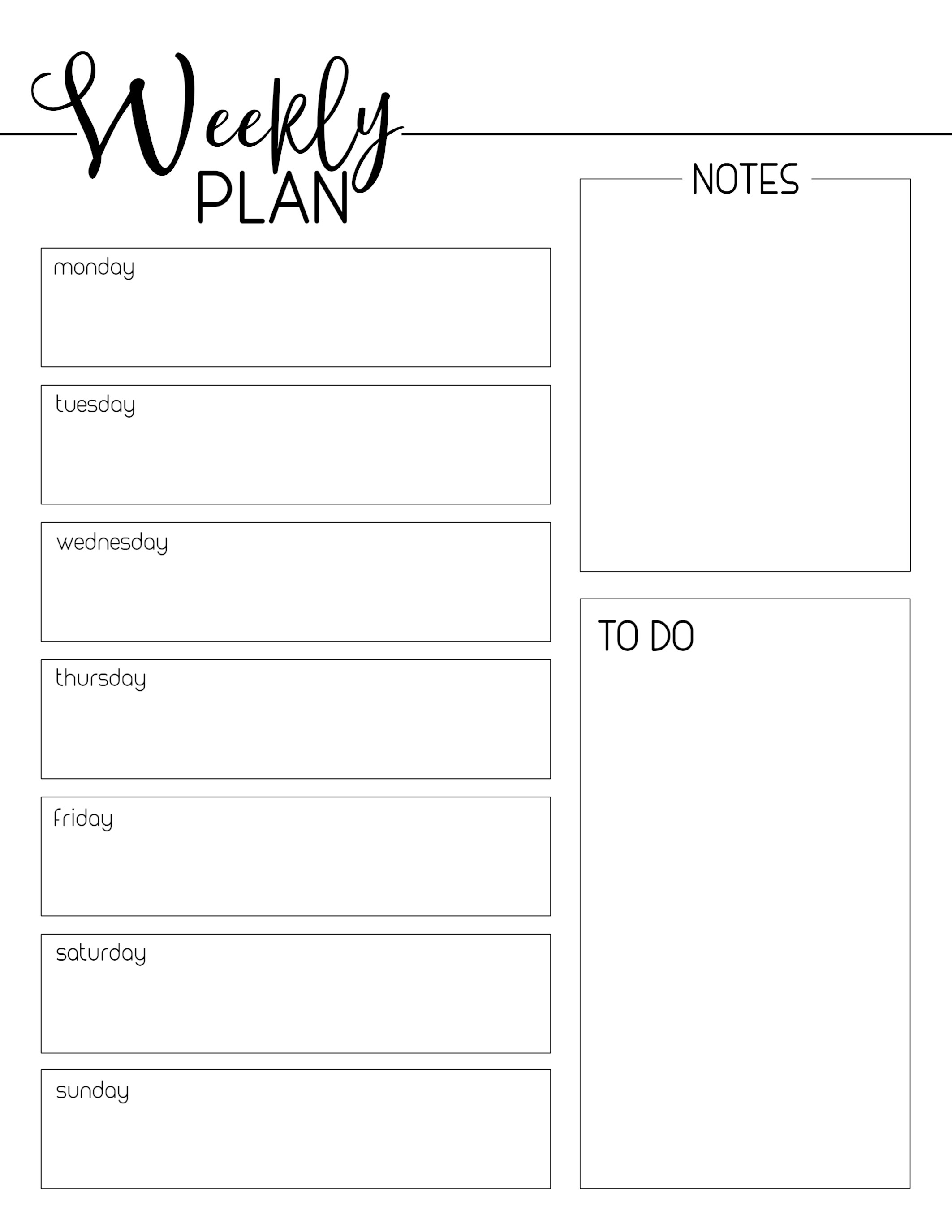 Weekly Planner Template Free Printable - Paper Trail Design regarding Weekly Schedule Template Free To Print