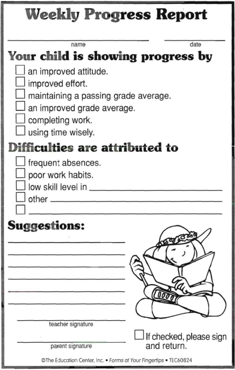 Weekly Progress Report | Ideas | Progress Report Template, Progress with regard to Free Printable Template Daily Report For Parents