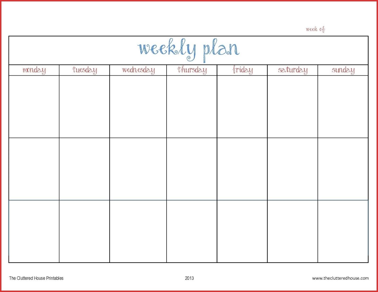 Weekweek Planner Template pertaining to Printable Weekly Planner For The Week