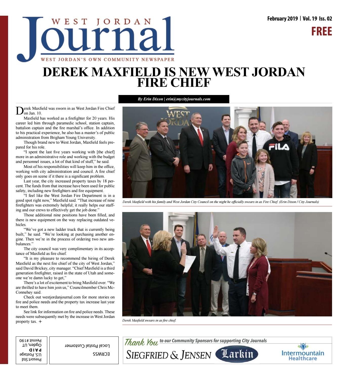 West Jordan Journal February 2019My City Journals - Issuu regarding Free Monthly Calendar Erin Huff