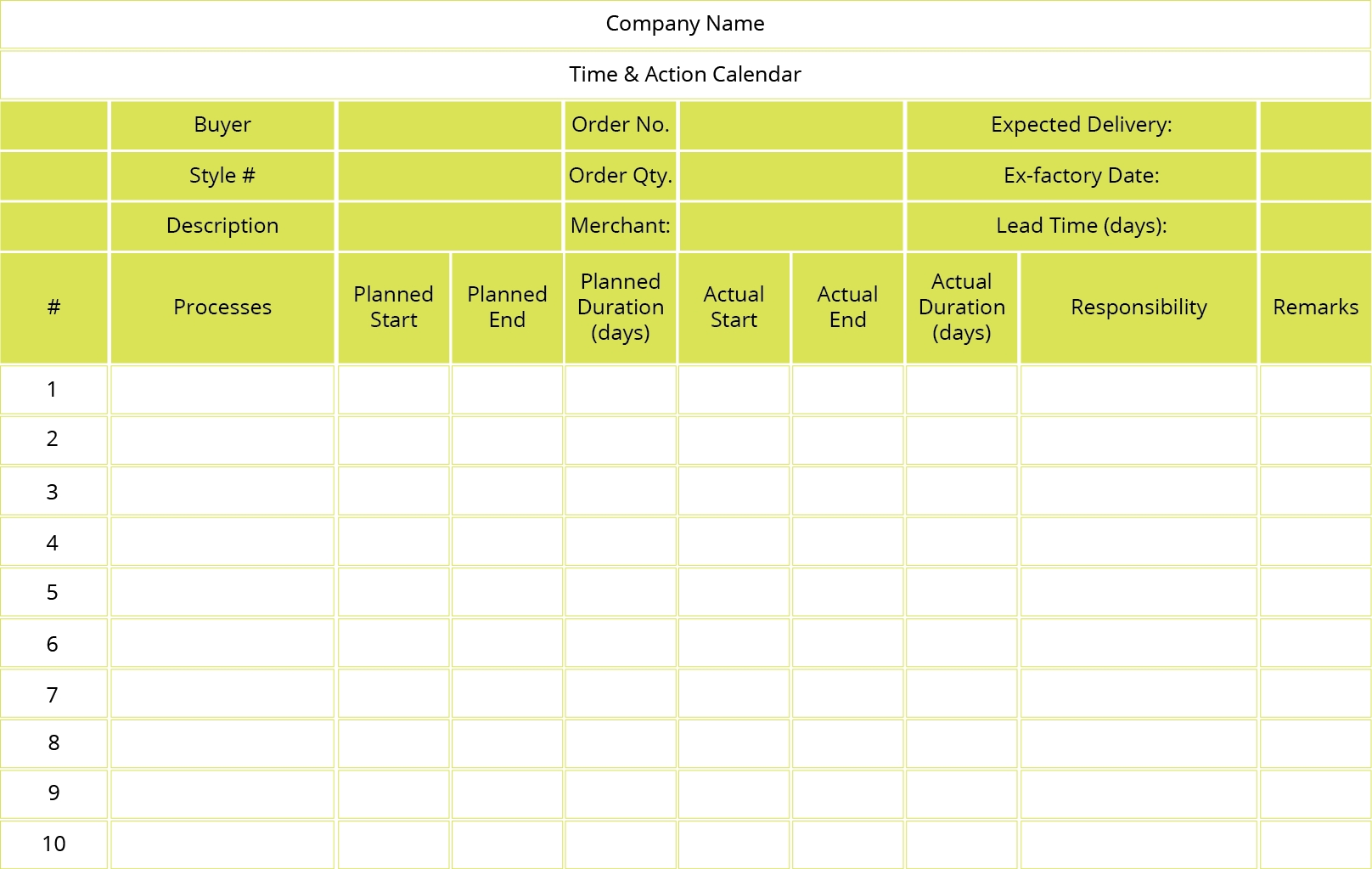 What Is Time And Action Calendar? • Stitch Diary in Time And Action Calendar Templates