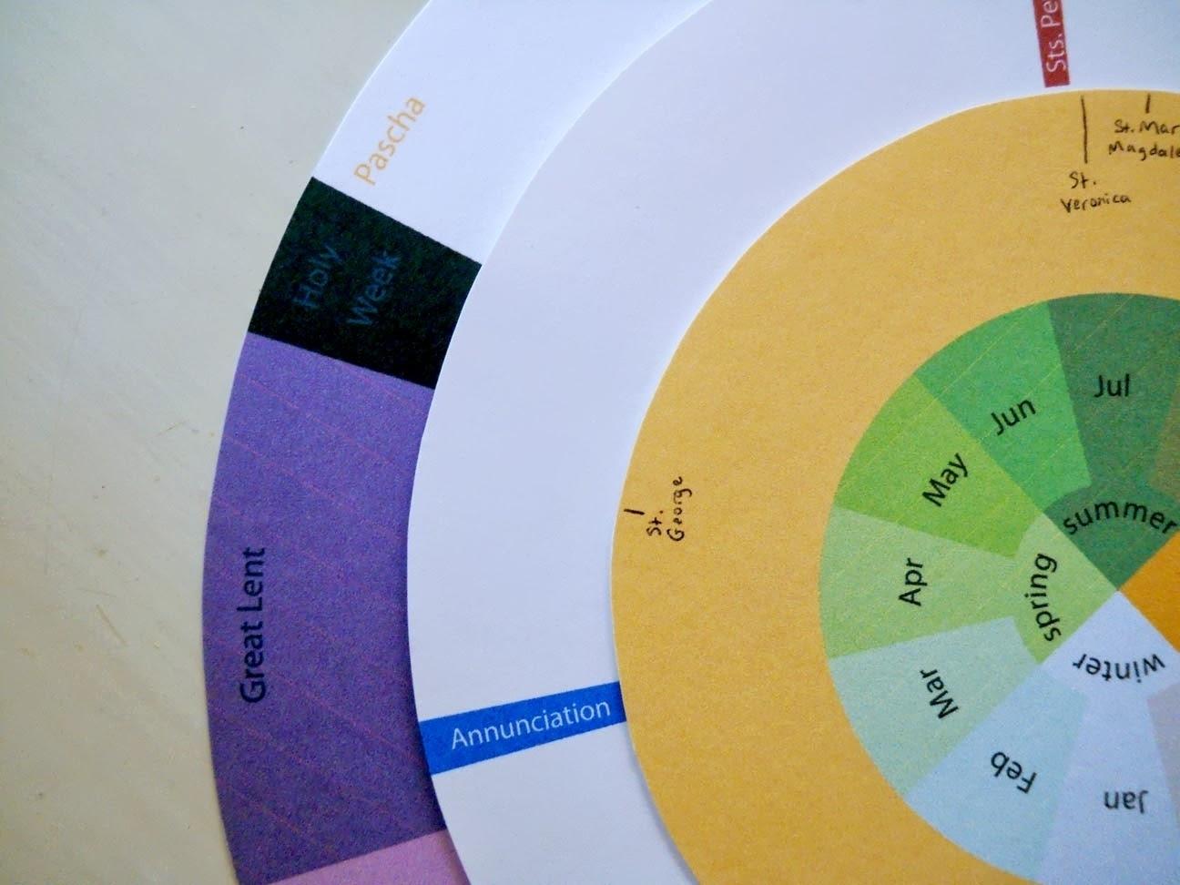 Wheel Of Church Year Printable For Children | Template Calendar within Wheel Of Church Year Printable For Children
