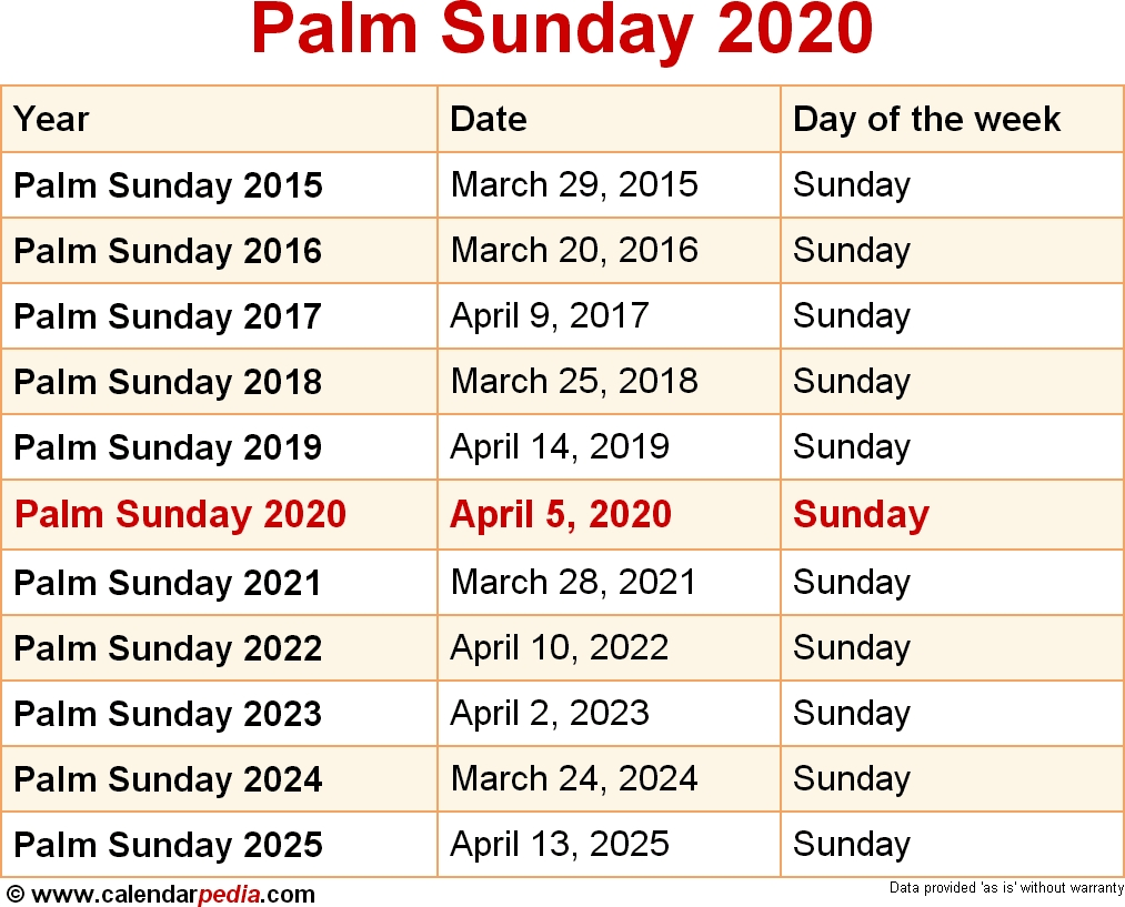 When Is Palm Sunday 2020 & 2021? Dates Of Palm Sunday regarding Kerala September Holidays According To Calendar