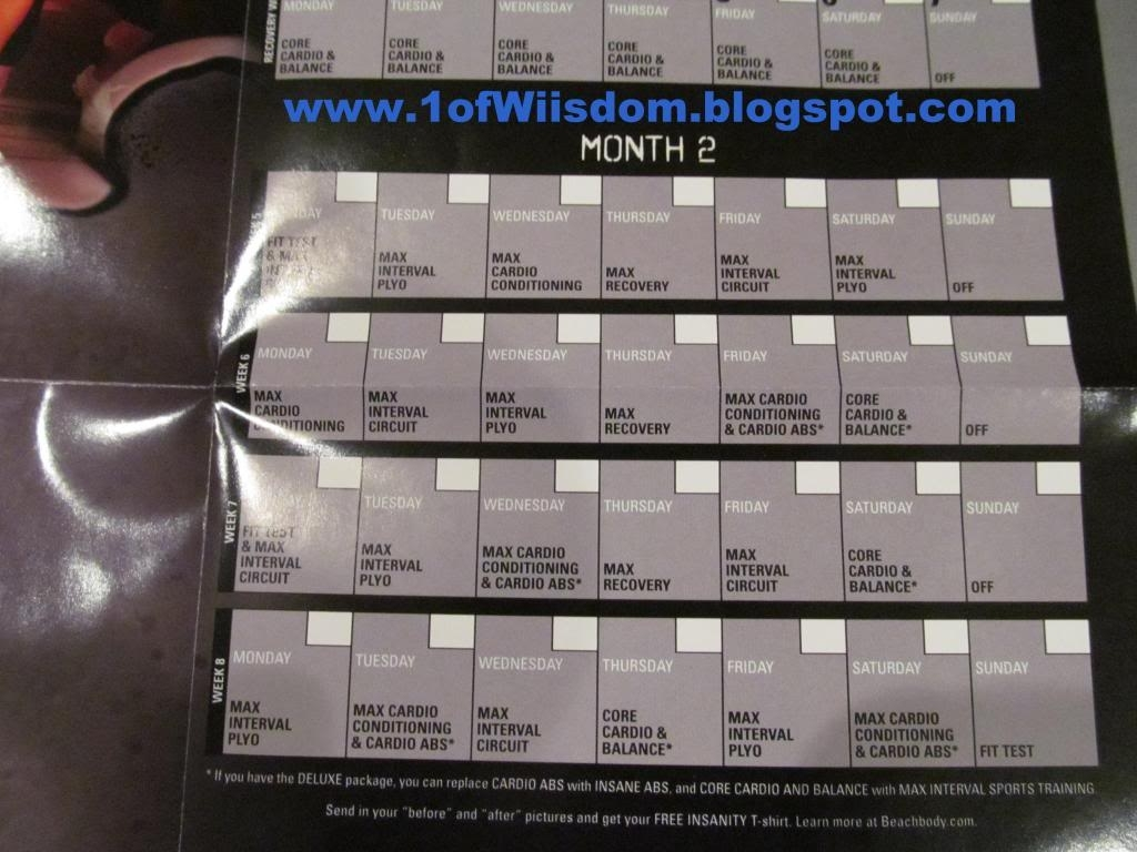Wiisdom: Insanity Unboxing, Overview, And Progressive Review with regard to The Insanity 60 Day Wall Calendar