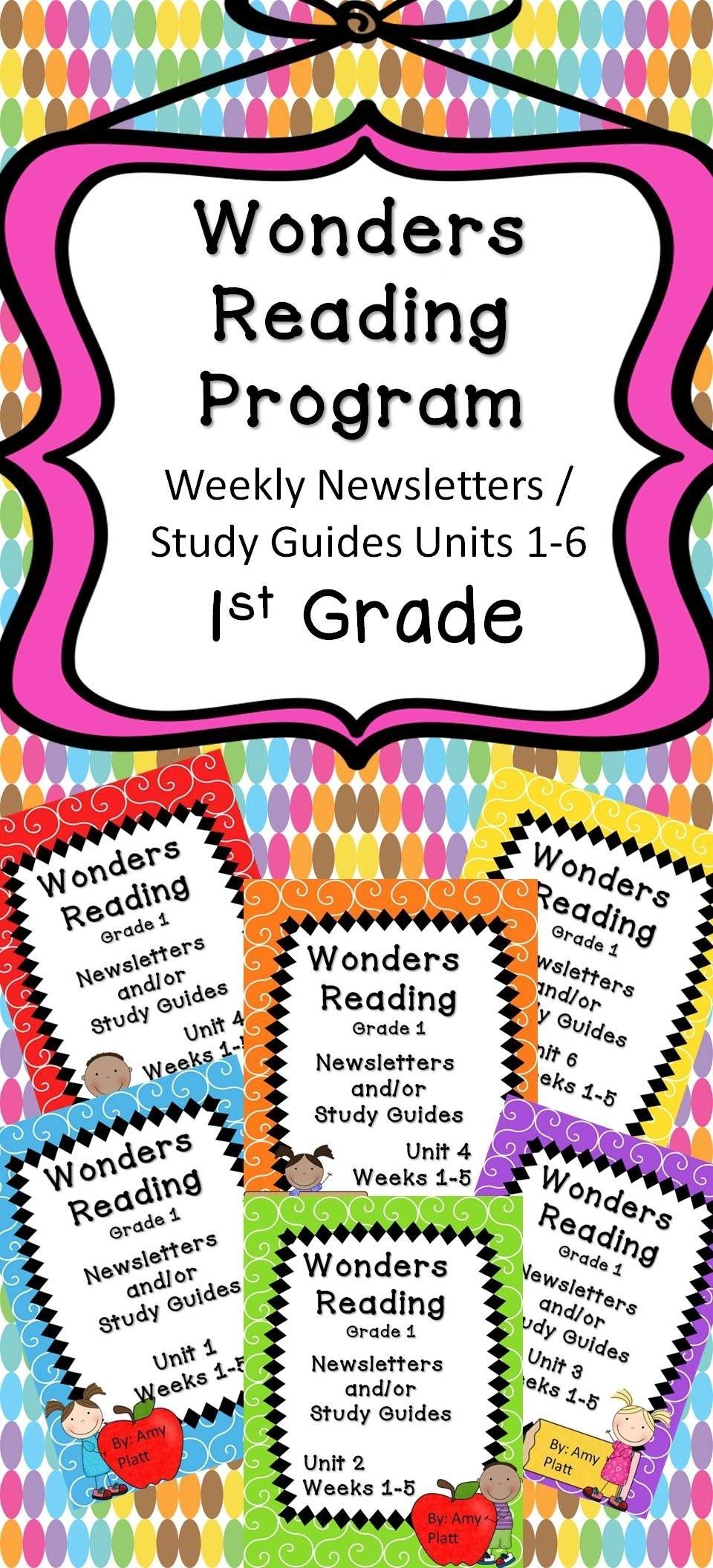 Wonders Reading Grade 1 Units 1-6 Newsletter / Study Guides | Tpt within 1St Grade Newsletters In 1St Grade