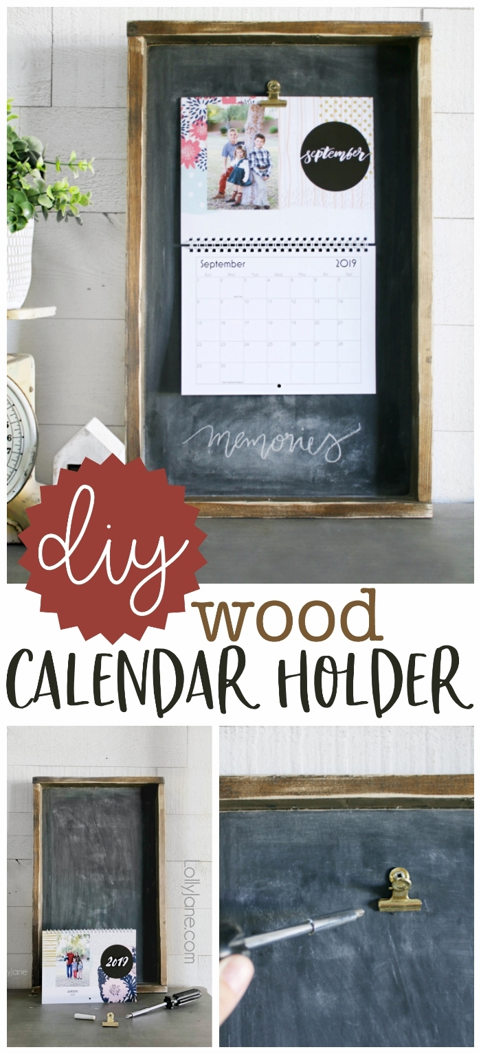 Wood Calendar Holder - Lolly Jane pertaining to Wall Calendar Frames And Holders