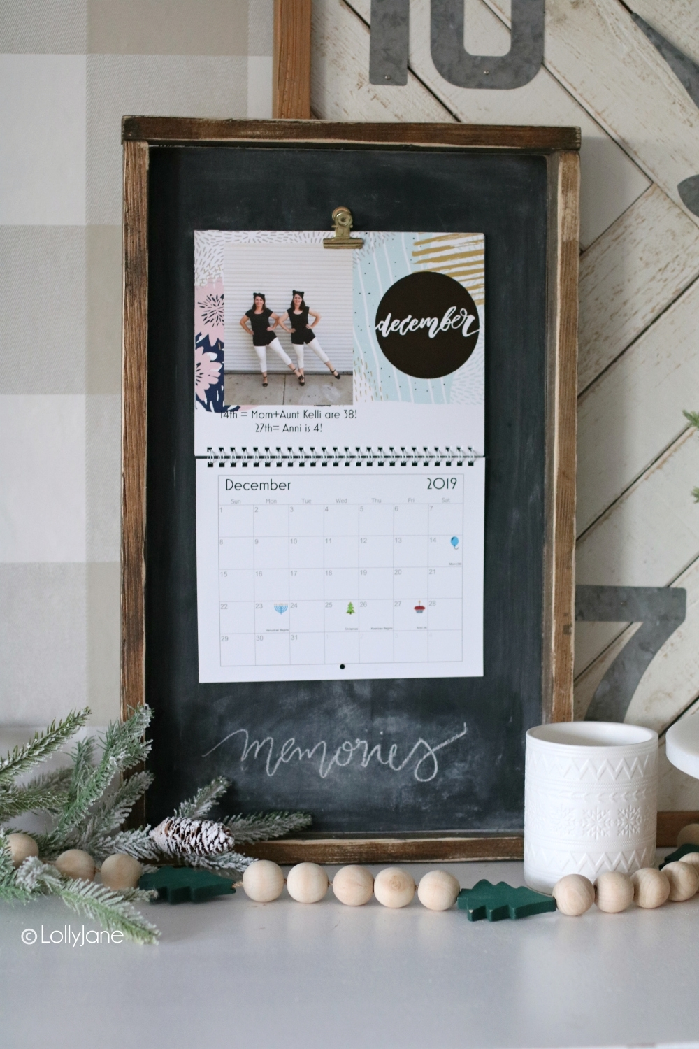 Wood Calendar Holder - Lolly Jane throughout Wall Calendar Frames And Holders