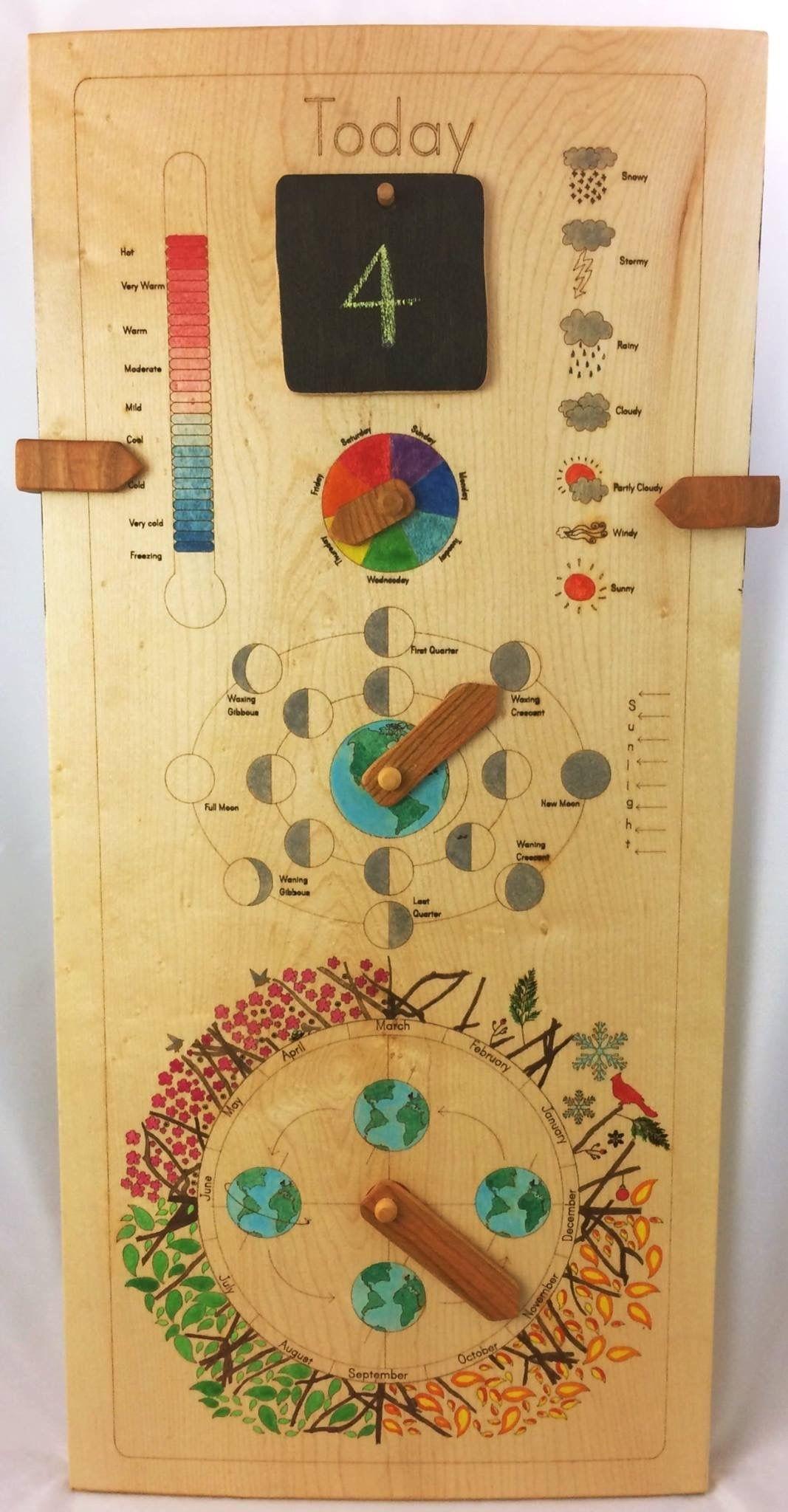 Wooden Perpetual Calendar, Perpetual Calendar, Wood Calendar for Birthday Calendar Montessori For Print