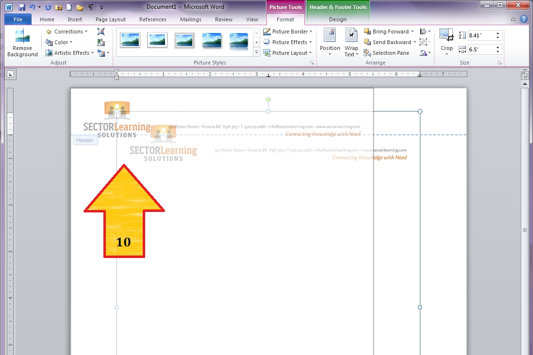 "Word 2010 – Custom Margins And ""Locking"" Letterhead Graphics within How To Overlap Pictures Microsoft Word 2013"