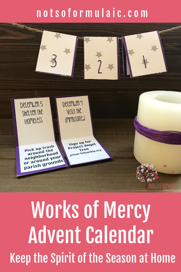 Works Of Mercy Printable Advent Calendar pertaining to Printable Advent Calendars For All Seasons