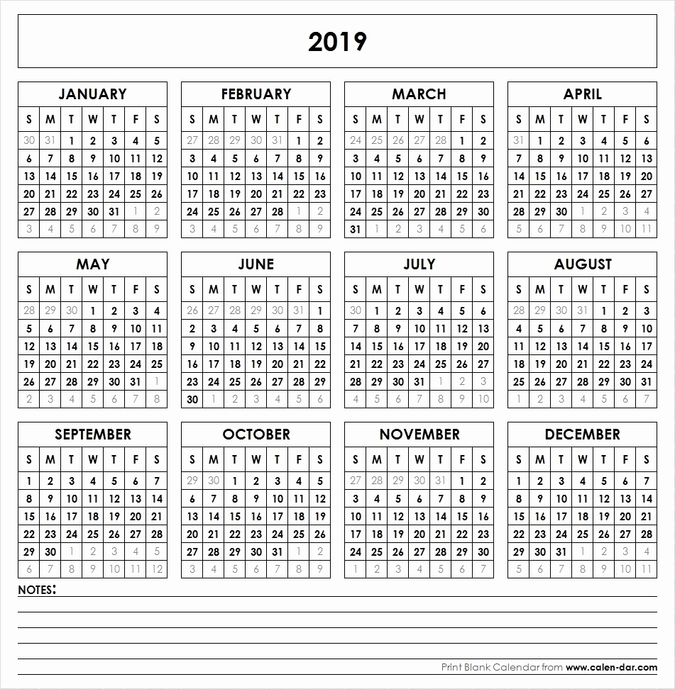 Year At A Glance Calendar Printable 2019 2020 Bullet Journal 2019 throughout Year At A Glance Calendars Printable