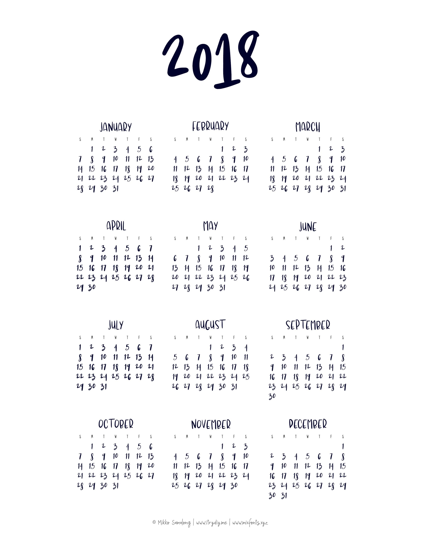 Year At A Glance Calendar | Templates & Printables | At A Glance in Year At A Glance Printable