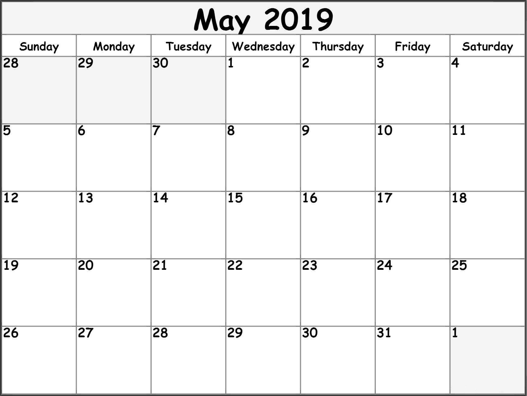 007 May Calendar Printable Template Ideas Free Shocking Blank within Large Printable Calendar 2020