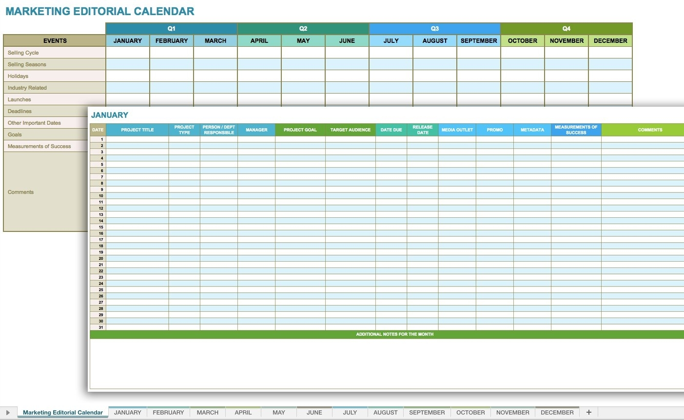 12 Free Social Media Templates | Smartsheet pertaining to Social Media Posting Calendar Template
