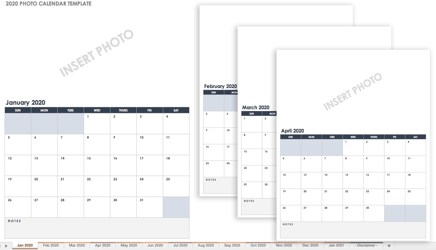 15 Free Monthly Calendar Templates | Smartsheet with regard to 2020 Google Sheets Calendar