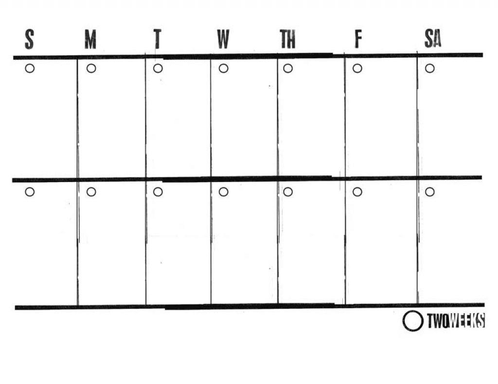2 Week Blank Calendar Printable Template Design With with regard to 2 Week Blank Calendar Template