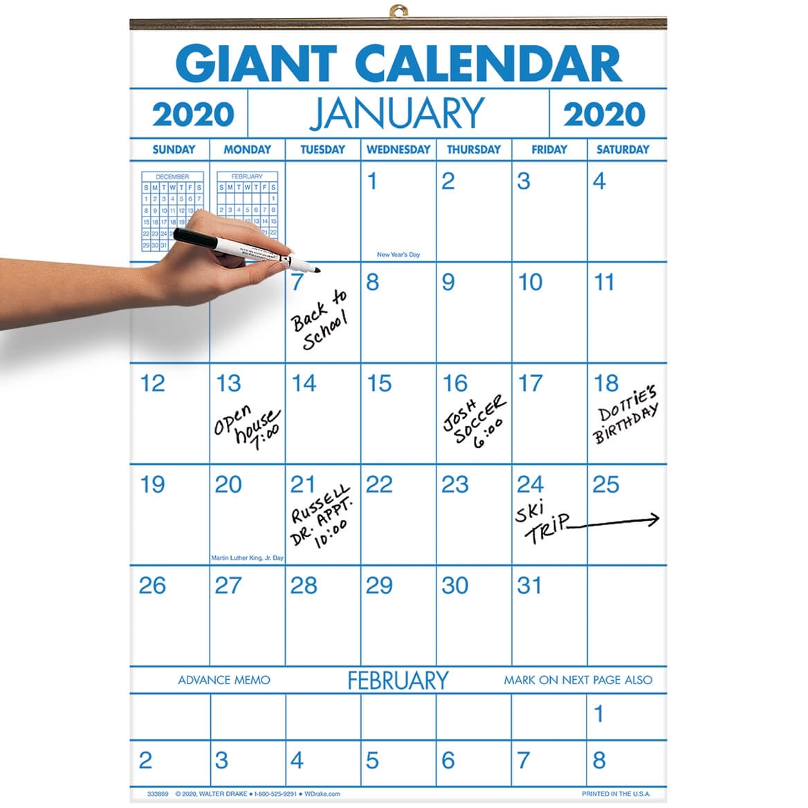 2 Year Large Calendar with regard to Calendar 2020 Large Box