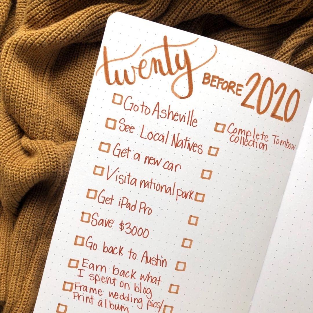 20 Before 2020 #bulletjournal #bujo #goalsetting | Bullet Journal with 2020 Bullet Journals
