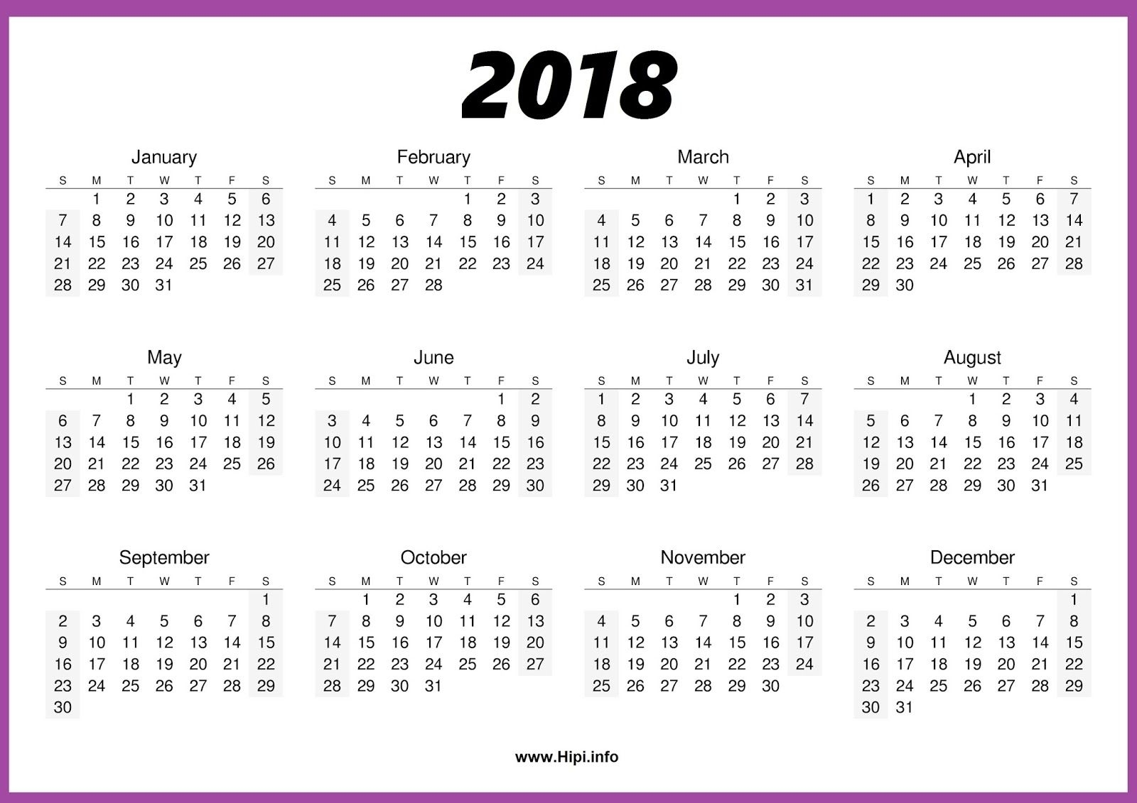 2018 Calendar One Page | November Calendar | Blank Calendar Template pertaining to Monthly Calendar On One Page