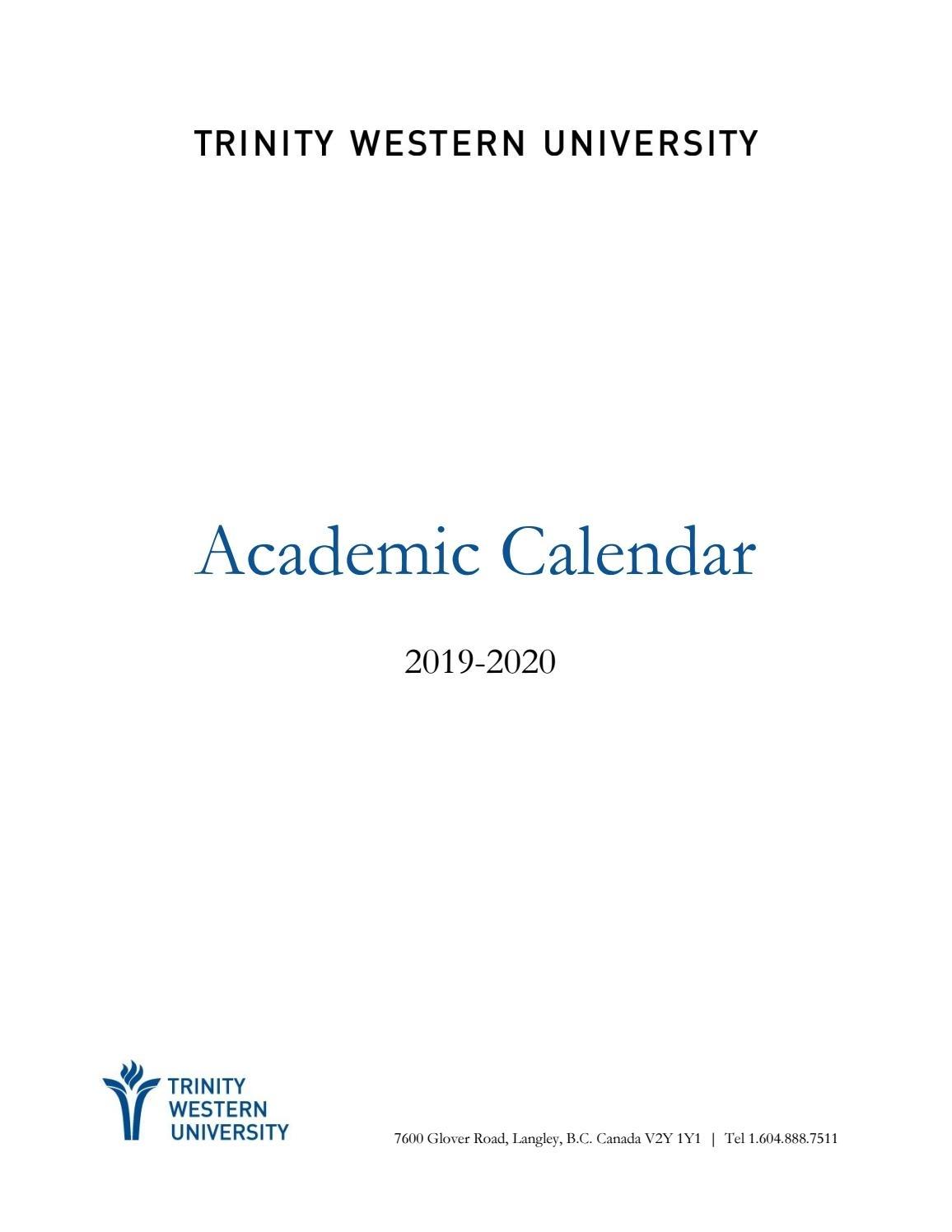 2019-20 Academic Calendartwu - Issuu throughout U Of Michigan Calendar 2019-2020