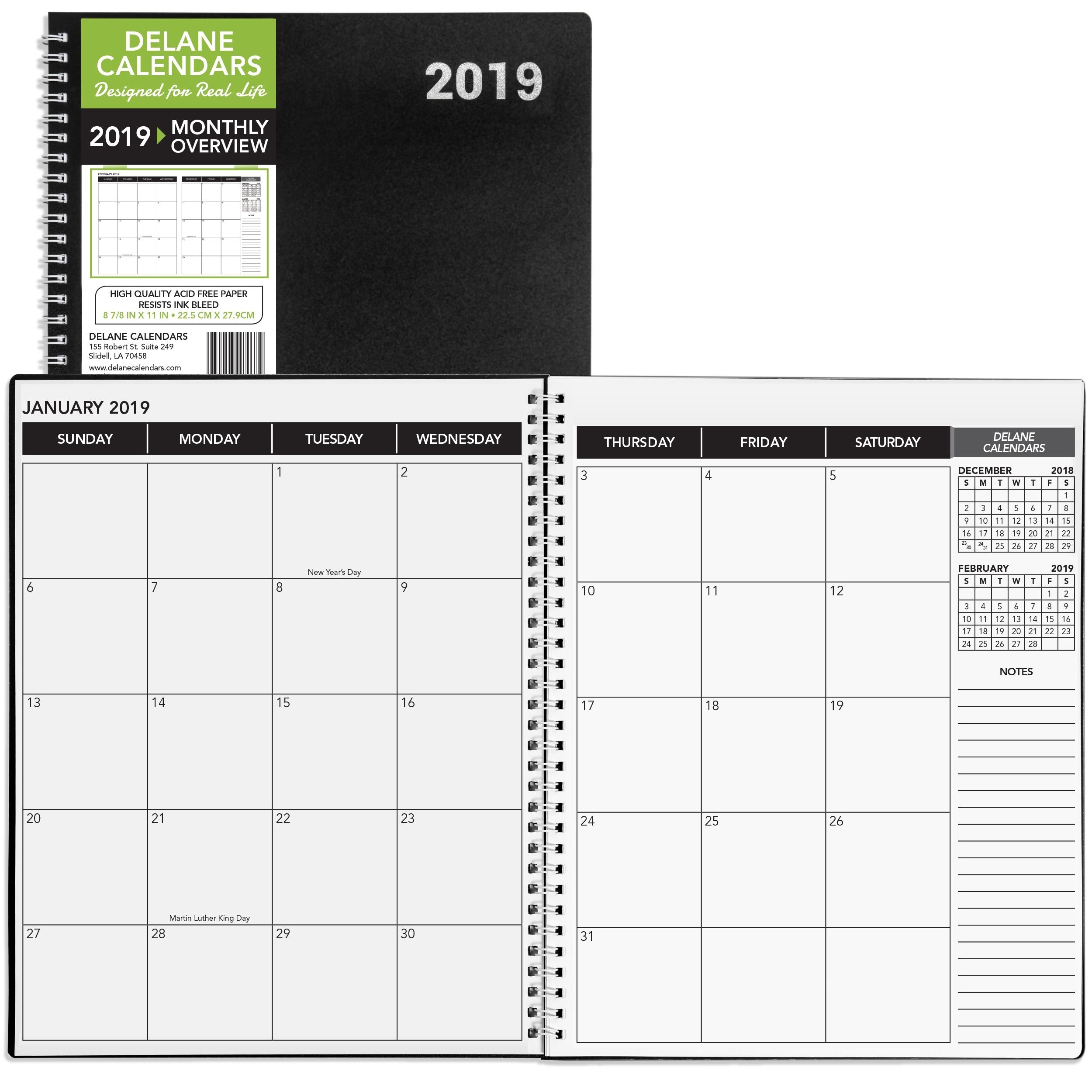 "2019-2020 Academic Planner, 8.5"" X 11"", Premium Paper, Monthly for 2020 Calendar 8.5 X 11"