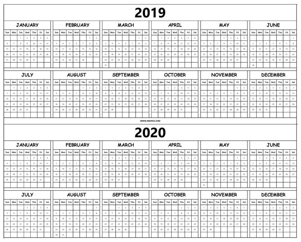 2019 2020 Calendar Printable Template On One Sheet | Excel, Pdf with regard to Printable 2019 2020 Calendar Pdf