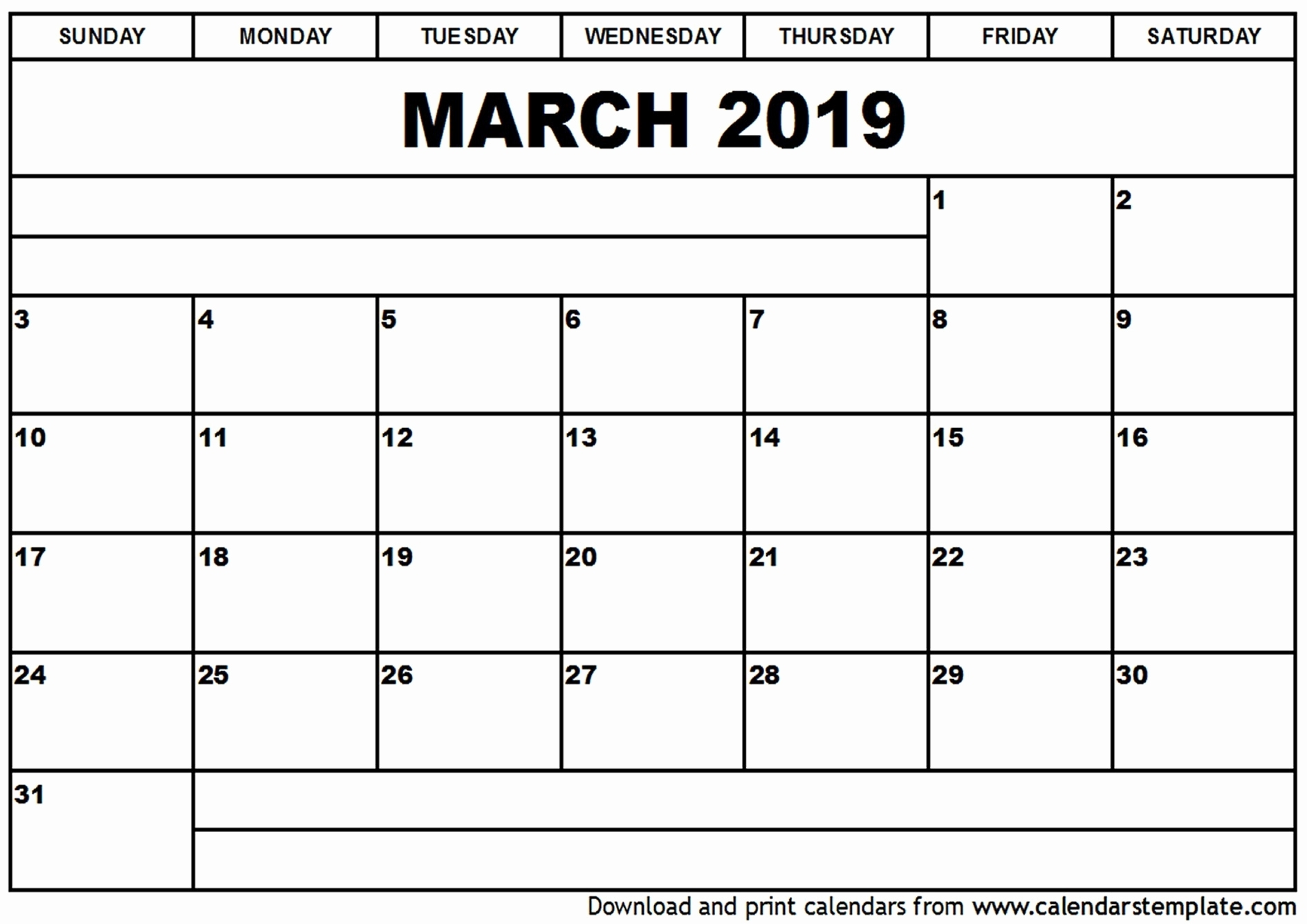 2019 2020 Printable Calendar Templates Monday Friday Monday Through for Monday Thru Friday Calendar 2020 Template