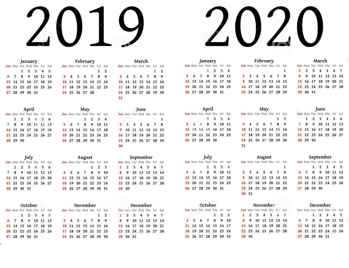 2019 And 2020 Calendar Printable | Calendar Shelter inside Printable Calendar 2019 2020 Write On