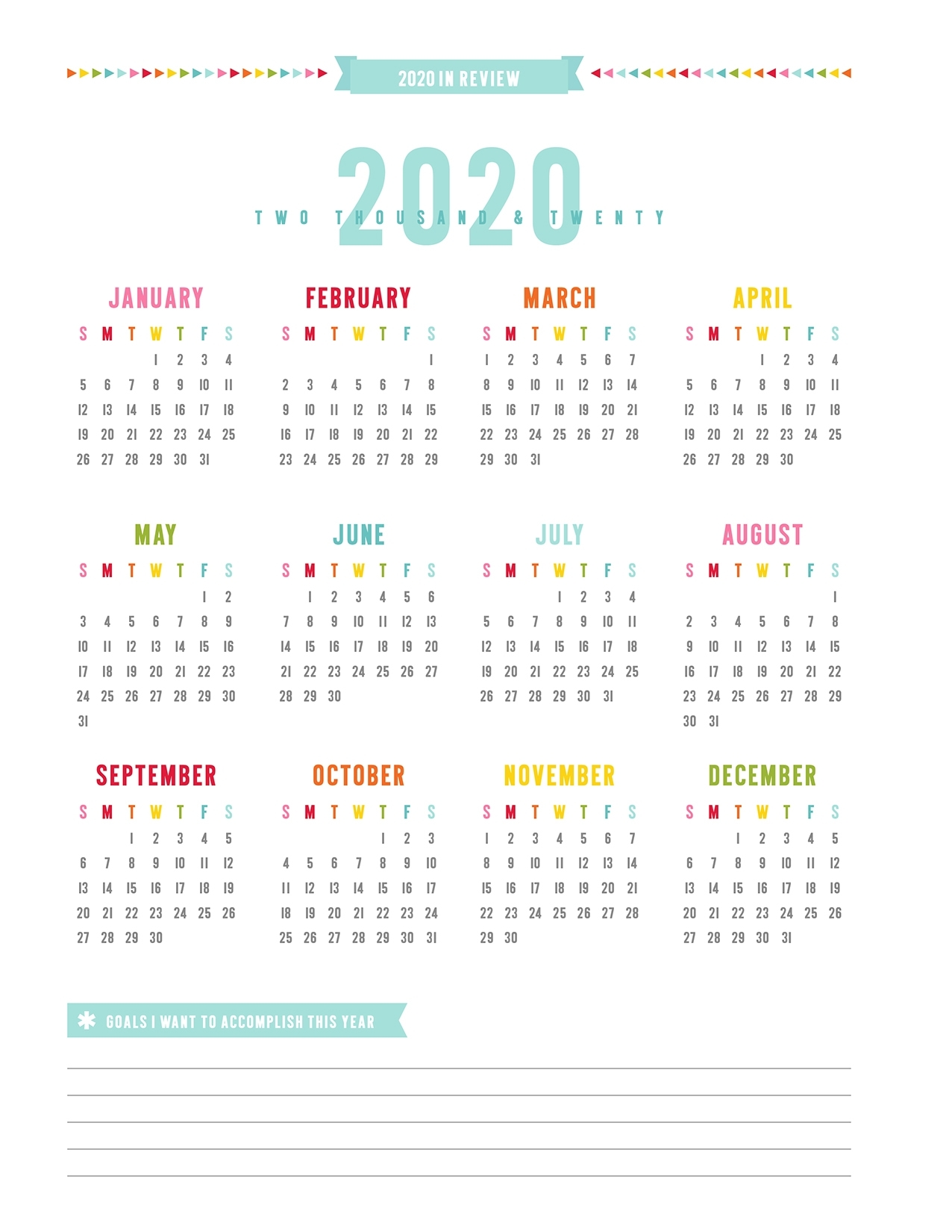 2019 Everyday Planner   Misstiina pertaining to Year At A Glance 2019 2020 Free