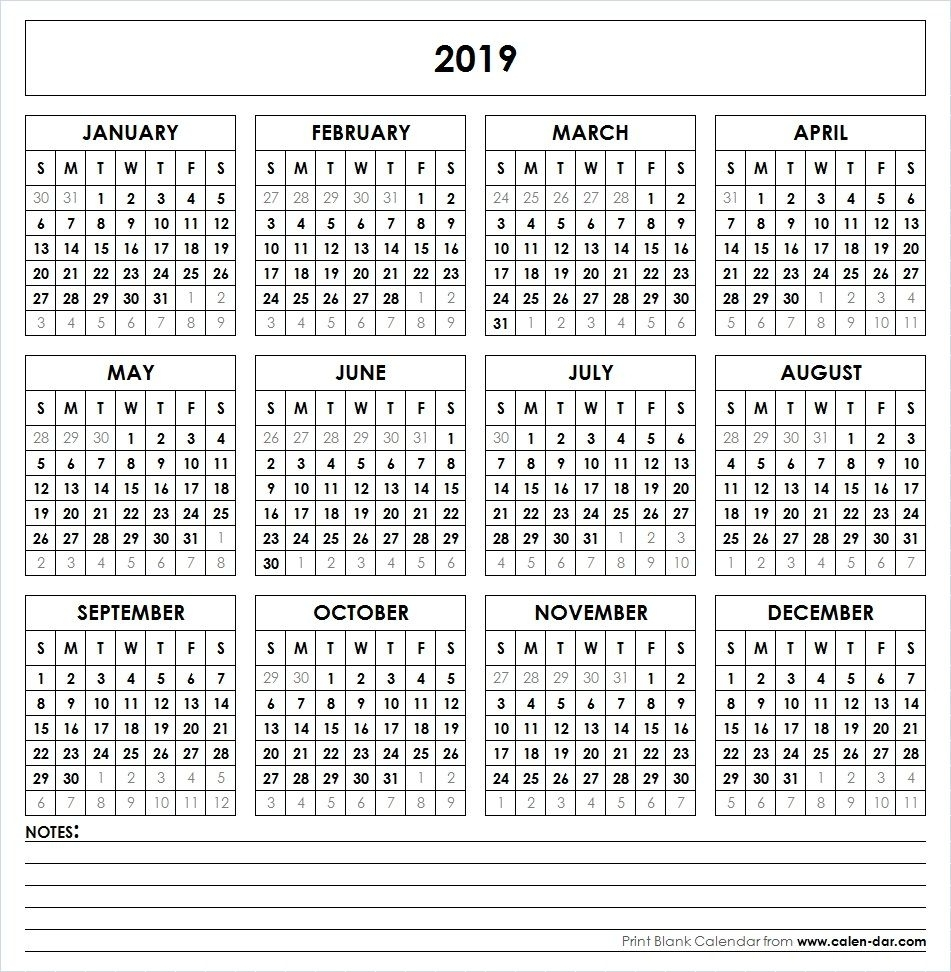 2019 Printable Calendar | Yearly Calendar | Printable Calendar with regard to Microsoft Word Calendars 2019-2020