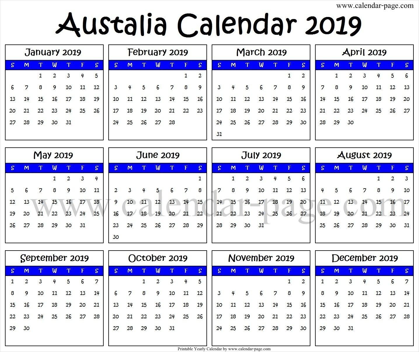 2019 South Australian Calendar - Australia Moment intended for Split Calendar 2019 2020 South Australia