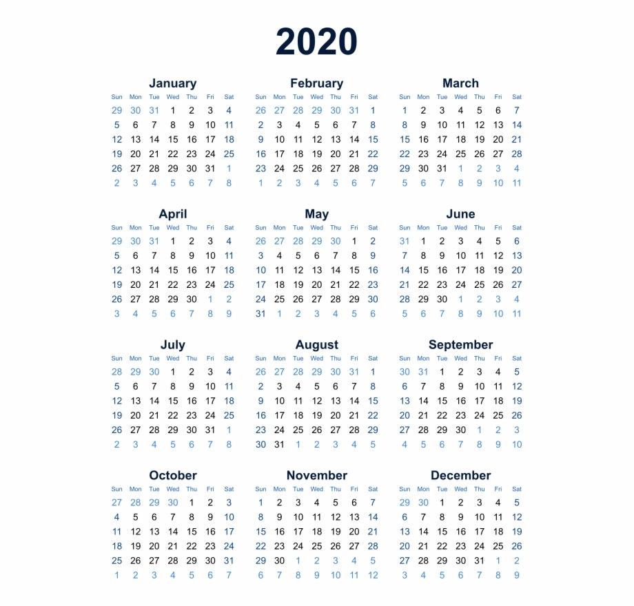 2020 Calendar Transparent Background Png - Year At A Glance Calendar in Mayan Calendar 2020