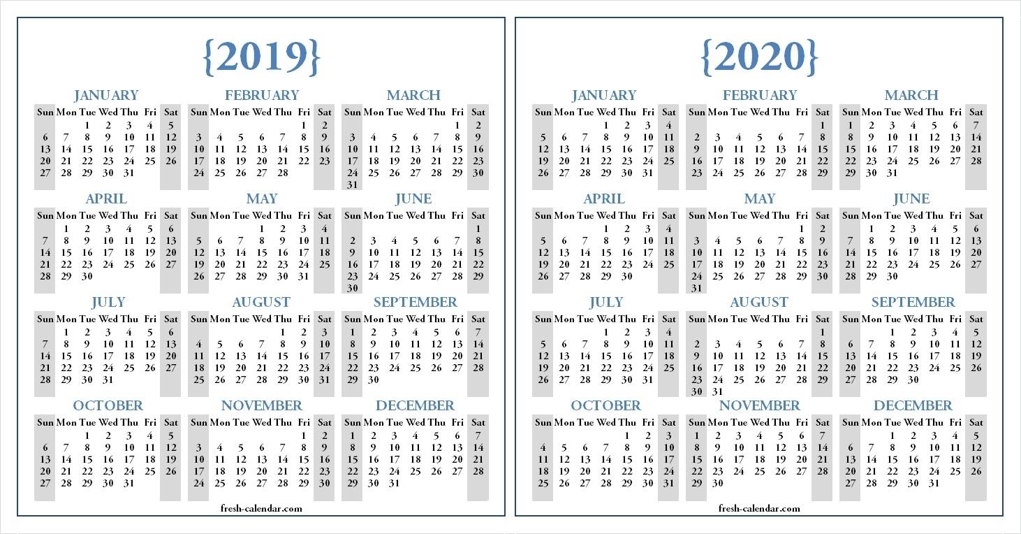 2020 Calendar Wallpapers - Wallpaper Cave throughout Year Long Calendar 2019- 2020 Printable